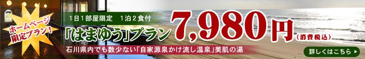 ウェルネス能登路HP限定はまゆう7890円ぽっきりプラン