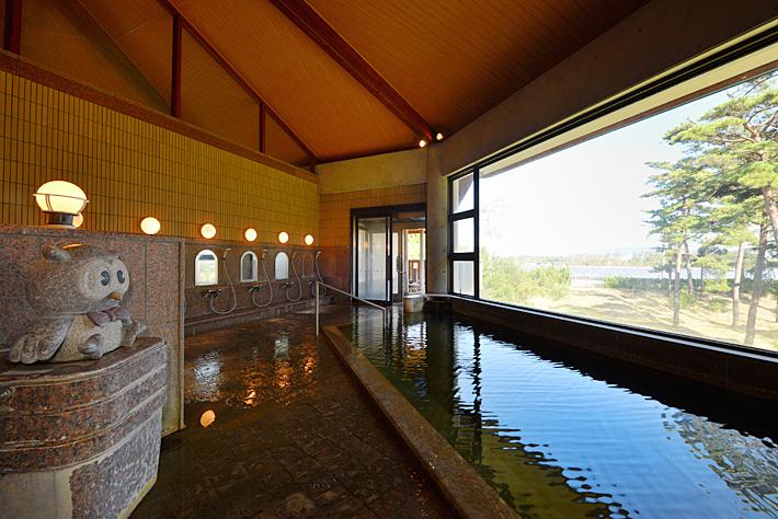 ホテルウェルネス能登路の源泉掛け流しの天然温泉