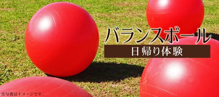 バランスボール&温泉ランチプラン(日帰り体験)